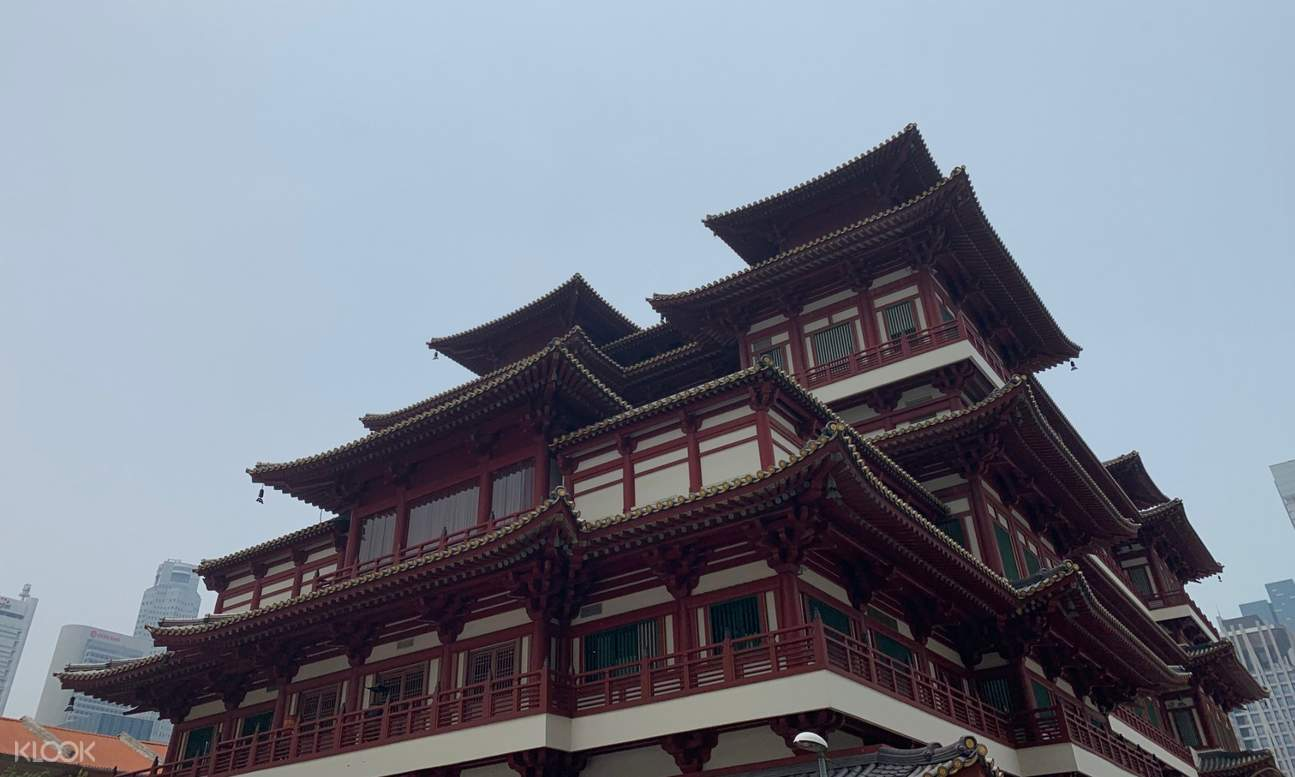 Chinese-style building in Singapore's Chinatown